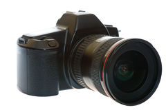 DSLR with a wideangle lens Stock Image