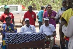 DSP som presidentkandidaten på en aktion samlar Arkivfoto