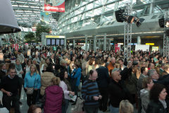 Düsseldorf Airport Fashion Show Stock Photo