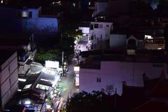 Dstrict bij Nacht in Vietnam stock afbeelding