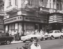 DT000040 CZECHIA Praha CIRCA 1960`s - Hotel Palace - Street Scene. Social History -Vintage Photo - CZECHIA Czechoslovakia Praha CIRCA 1960`s - Hotel Palace royalty free stock image