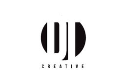 DT D T Witte Brief Logo Design met Cirkelachtergrond Royalty-vrije Stock Foto