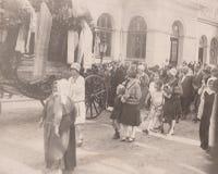DT00006 de Begrafenisceremonie van HONGARIJE CIRCA 1920-30 royalty-vrije stock afbeelding