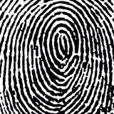 DT fingerprint16 συγκομιδών jpg Στοκ φωτογραφία με δικαίωμα ελεύθερης χρήσης