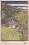 DT00079 - GRAVURE DU BOIS COLORÉE par l'ORDURE de RUDOLF - édité dans le studio Magazin, Londres VERS 1910 illustration libre de droits