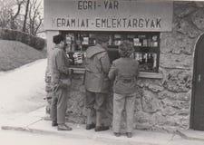 DT00007 HUNGARY,EGER CIRCA 1960 - Social Hisotry -Vintage Photo - Castle of Eger`s Ceramic Souvenir Shop royalty free stock images