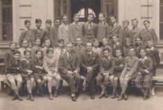 DT00020 UNGARN, BUDAPEST Brunhuber Mitschüler 1937 Foto-1937 lizenzfreie stockfotos