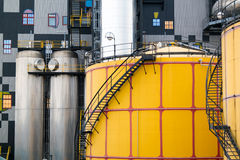 Détail d'usine de Spittelau par Hundertwasser, Vienne Image stock
