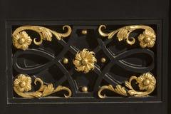 Détail décoré de porte Photo stock