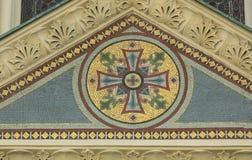Détail de décoration d'église Images stock