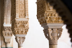 Détail de dorado de Cuarto de pièce Gilded à Alhambra grenade Images libres de droits