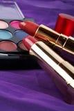 Détail de l'assortiment des makeups Photos stock