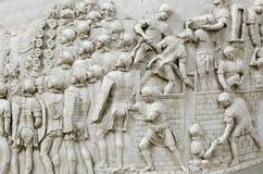 Détail de la colonne de Trajan Image stock
