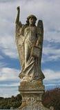 Détail de la sculpture en pierre en ange de pierre tombale Image libre de droits