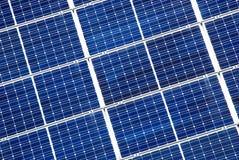 Détail de panneau solaire Photographie stock libre de droits