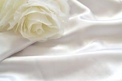 Détail de robe de mariage Photos stock