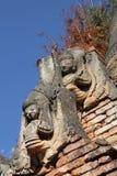 Détail des pagodas bouddhistes birmannes antiques Photos stock