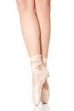 Détail des pieds de danseur de ballet Image stock