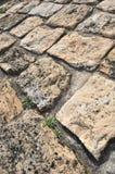 Détail et perspective en pierre de trottoir Image stock