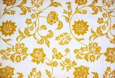 Détail floral de tissu Photographie stock libre de droits