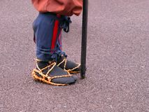 Détail japonais de pieds de guerrier Image stock