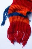 Détail tricoté d'écharpe Photo libre de droits