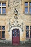 Détails architecturaux du château de Puymartin Images stock