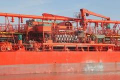 Détails d'un bateau-citerne Photographie stock libre de droits
