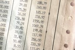 Détails de facture Image stock