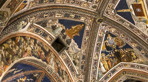 Détails des Di San Giovanni, Sienne, Italie de battistero Images stock