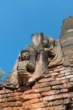 Détails des pagodas bouddhistes birmannes antiques Images stock