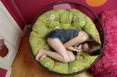 Détente d'adolescente Photos libres de droits
