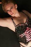 Détente dans la lingerie Photo stock