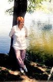 Détente en parc Image libre de droits