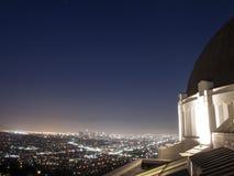 DTLA från observatoriet Fotografering för Bildbyråer