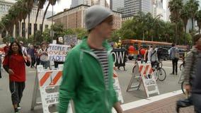 DTLA Pershing kwadrata protestujący zdjęcie wideo
