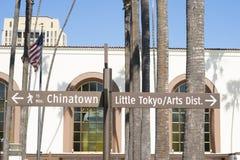 DTLA-Stadtskyline-Gebäudewitwen stockbild