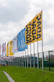 DTM (Deutsche Tourenwagen Meisterschaft) auf MRW (Moskau-Kanal), Moskau, Russland, 2013-08-04 Lizenzfreies Stockbild