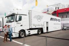 DTM (Deutsche Tourenwagen Meisterschaft) auf MRW (Moskau-Kanal), Moskau, Russland, 2013-08-04 Lizenzfreie Stockfotografie