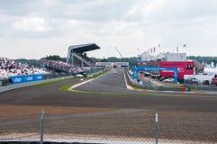 DTM (Deutsche Tourenwagen Meisterschaft) em MRW (canal adutor), Moscou de Moscou, Rússia, 2013-08-04 Imagens de Stock