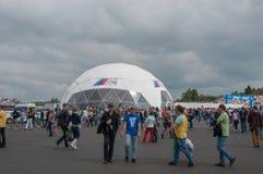 DTM (Deutsche Tourenwagen Meisterschaft) em MRW (canal adutor), Moscou de Moscou, Rússia, 2013-08-04 Imagem de Stock
