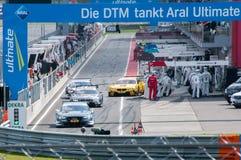 DTM (Deutsche Tourenwagen Meisterschaft) en MRW (alcantarilla) de Moscú, Moscú, Rusia, 2013-08-04 Foto de archivo