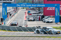 DTM (Deutsche Tourenwagen Meisterschaft) en MRW (alcantarilla) de Moscú, Moscú, Rusia, 2013 08 04 Foto de archivo libre de regalías