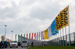 DTM (Deutsche Tourenwagen Meisterschaft) en MRW (alcantarilla) de Moscú, Moscú, Rusia, 2013-08-04 Fotos de archivo