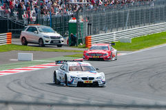 DTM (Deutsche Tourenwagen Meisterschaft), Moskau, Russland, 2013 08 04 Lizenzfreies Stockfoto