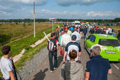 DTM (Deutsche Tourenwagen Meisterschaft), Moskou, Rusland, 2013 08 04 Stock Afbeelding