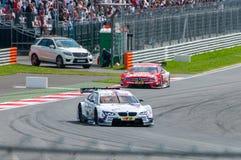 DTM (Deutsche Tourenwagen Meisterschaft) MRW (canal adutor), Moscou de Moscou, Rússia, 2013 08 04 Imagem de Stock