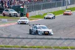 DTM (Deutsche Tourenwagen Meisterschaft) MRW (caniveau de Moscou), Moscou, Russie, 2013 08 04 Photographie stock libre de droits