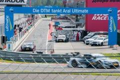 DTM (Deutsche Tourenwagen Meisterschaft) on MRW (Moscow RaceWay), Moscow, Russia, 2013.08.04 Royalty Free Stock Photo