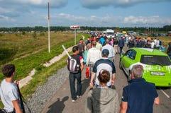 DTM (Deutsche Tourenwagen Meisterschaft) MRW (Moskau-Kanal), Moskau, Russland, 2013 08 04 Lizenzfreie Stockfotografie